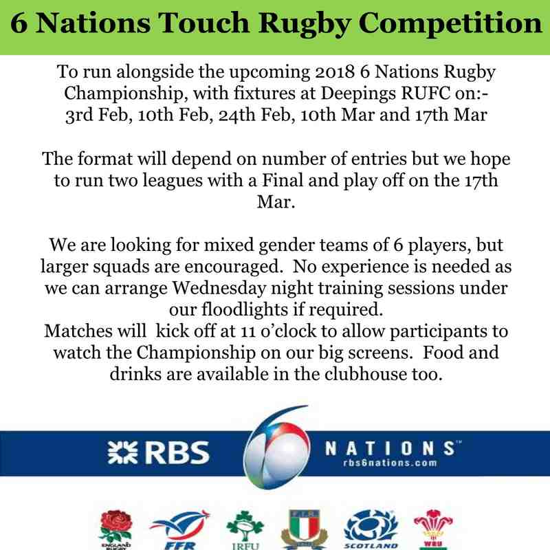 6 Nations Touch Rugby Competition