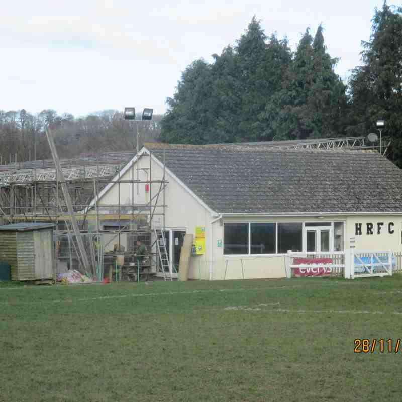 "The Progress of clubhouse extension as from the ""Rugby First"" day June 2013 (Part 2)  from December 2016"