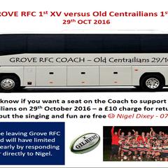 Grove RFC 1st XV Coach info