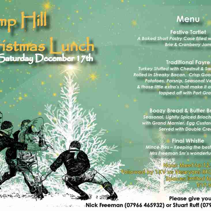 ".......'tis The Season to be jolly"" - Club Christmas Luncheon - only 5 seats remain"