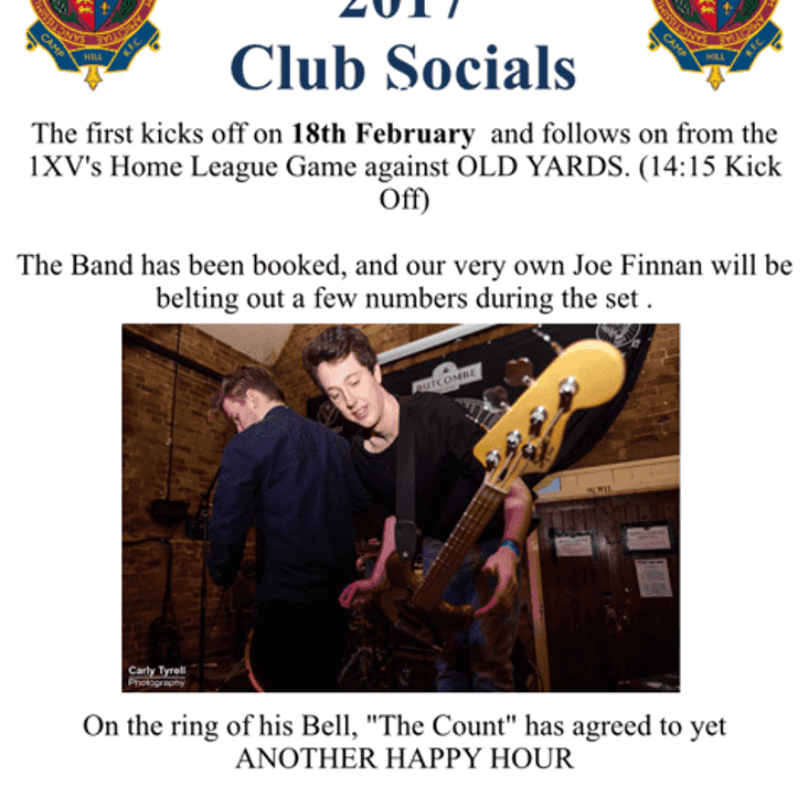 THEY'RE BACK! - Club Social on 18th February
