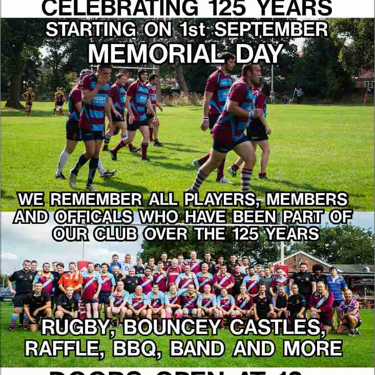Club kicks off its 125th year celebration on 1st September!