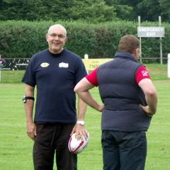 Phil Vickery & Andy Reed taking training @ the REC