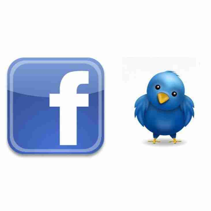 Join us on Facebook & Twitter.....
