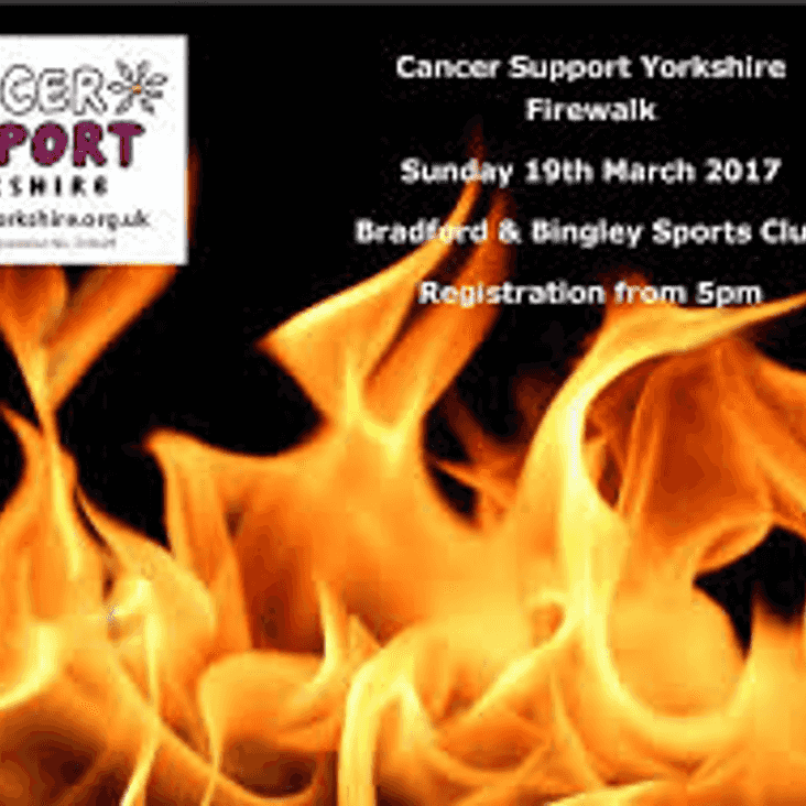 Cancer Support Yorkshire - Firewalk 2017