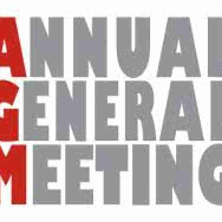 Annual General Meeting for the 2017/18 season