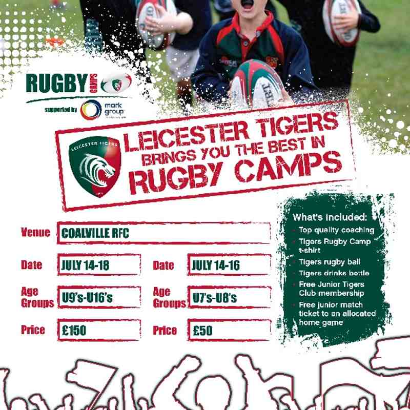 Leicester Tigers Summer Rugby Camp at Coalville RFC
