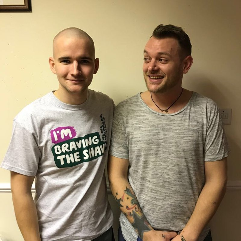 Dan Braves the Shave for Macmillan