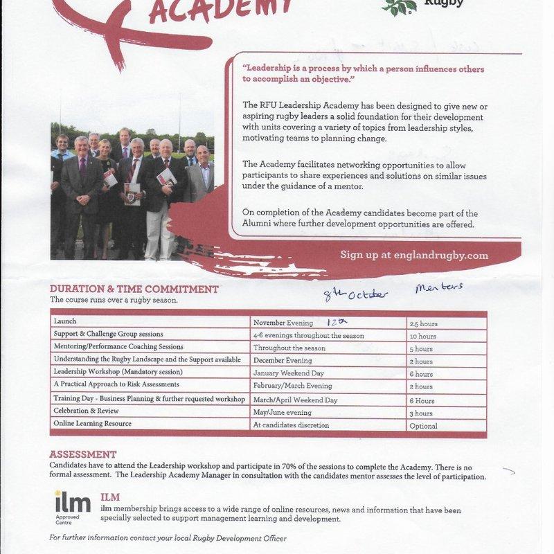 RFU Leadership Academy