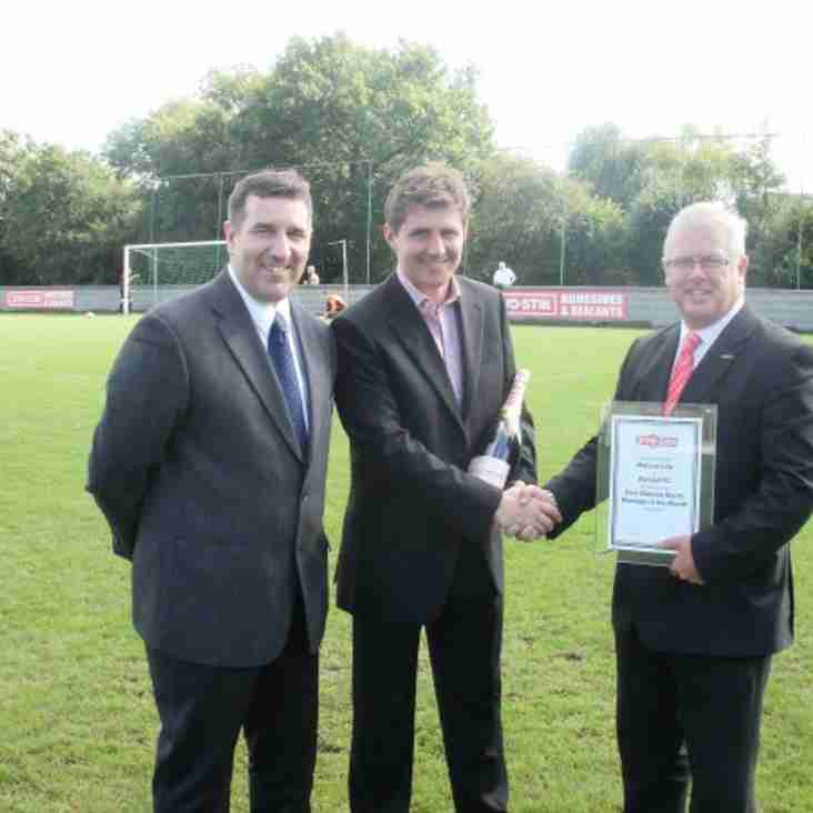 Barwell Manager Wins Manager of the Month for August