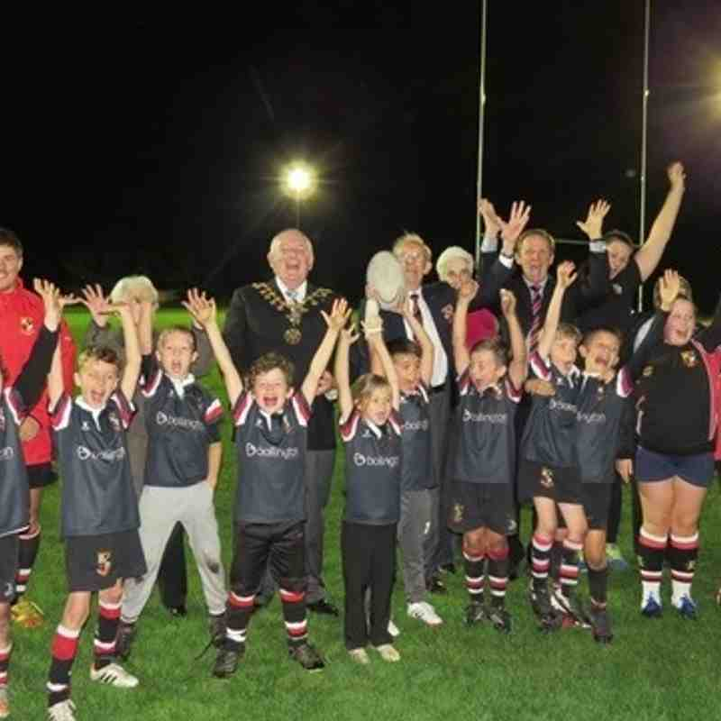 Mayor of Altrincham switches on AK's new floodlights