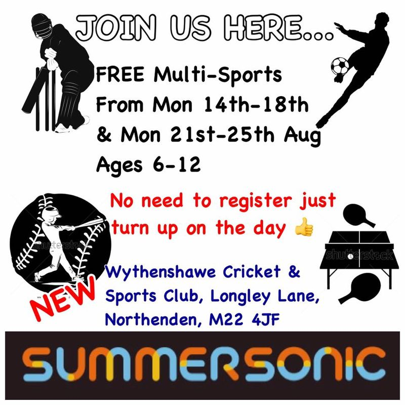 Its BACK!! FREE SUMMERSONIC MULTI-SPORTS 14th-25th Aug