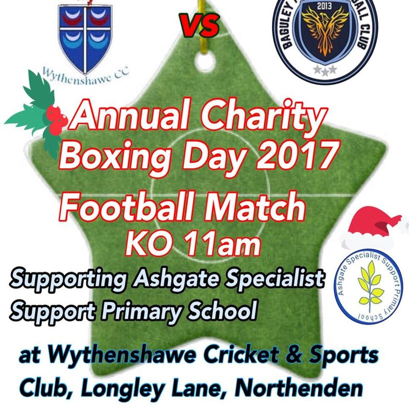 Annual Boxing Day Charity Football Match 11am Kick Off