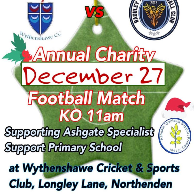 Annual Christmas Charity Football Match 11am Kick Off