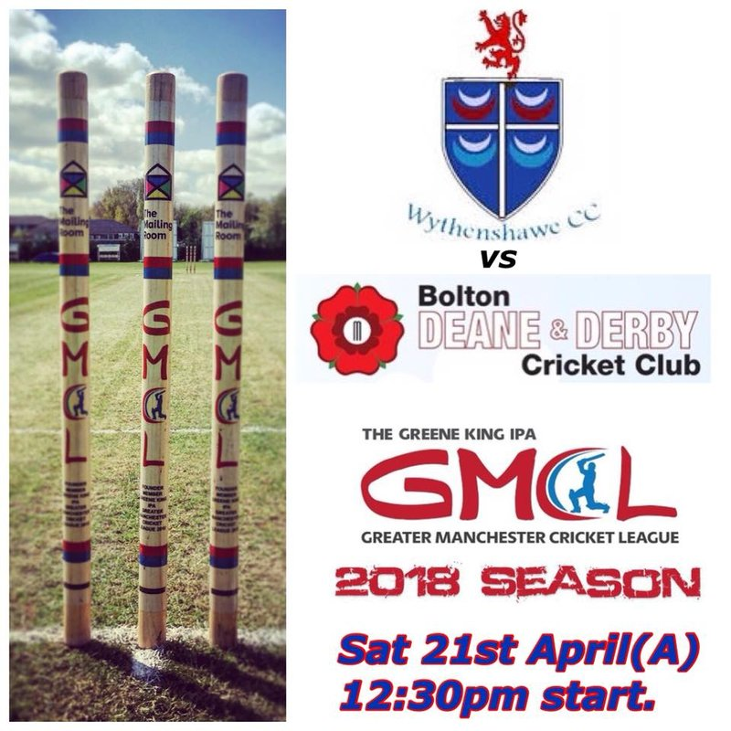 Season 2018 begins Sat 21st April away at Deane & Derby CC