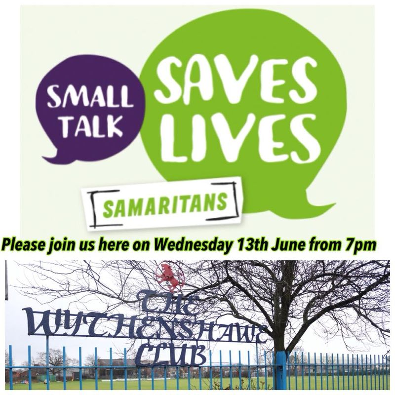 Everyone is welcome to share, listen and support with guidance from Samaritans Mcr
