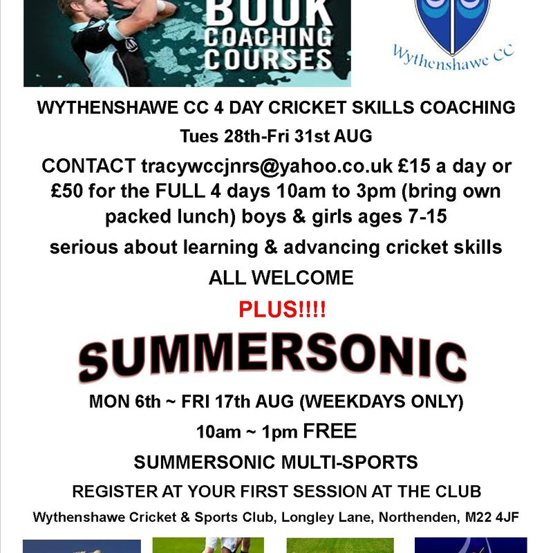 Another GREAT Summer of Sport coming to Wythenshawe Cricket & Sports Club