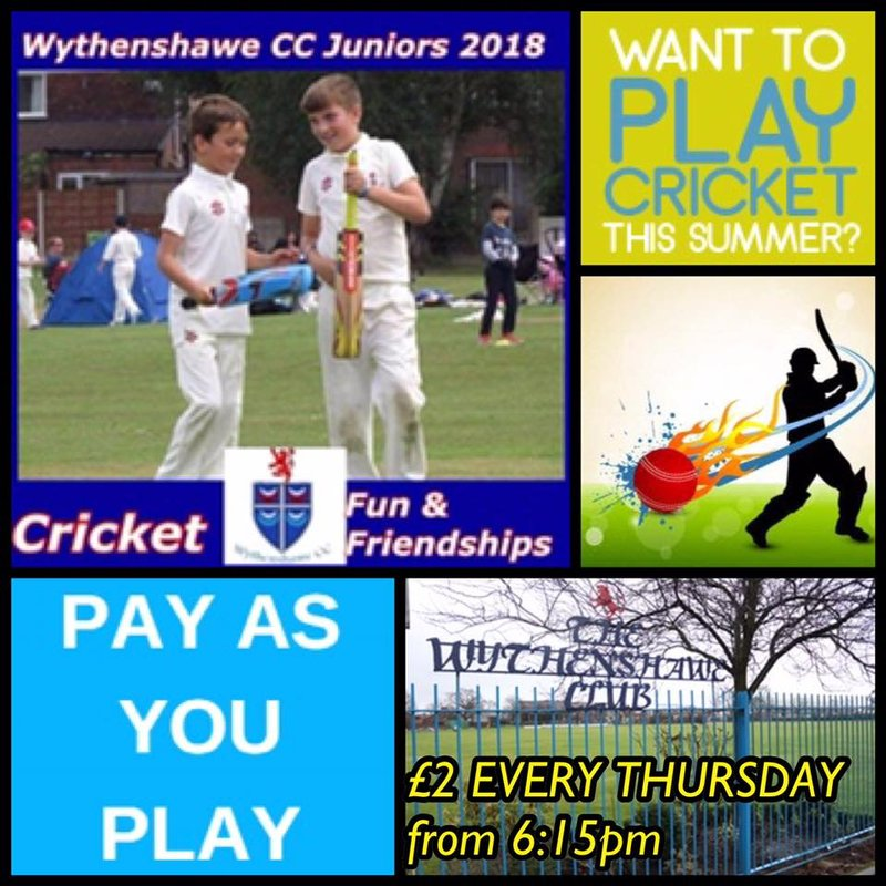 NEW!! £2 Pay as you Play Jnr Cricket for the Summer here at Longley Lane