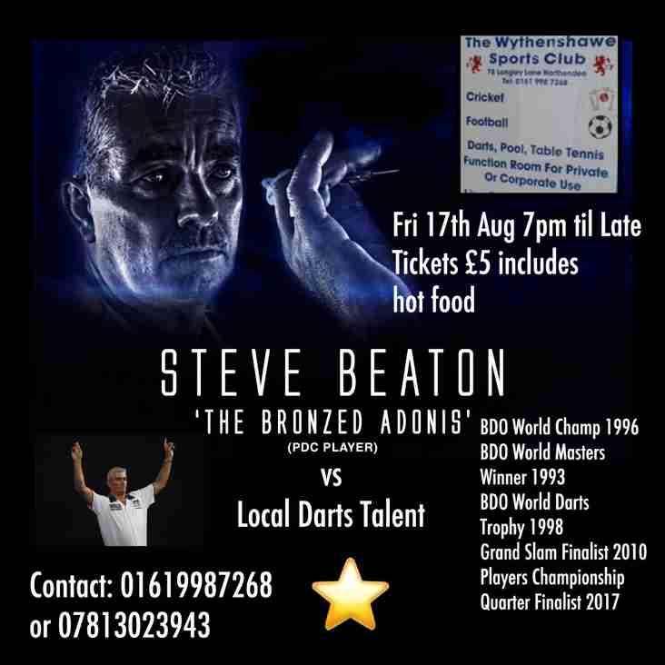 Darts Night with The Bronzed Adonis ~ Steve Beaton