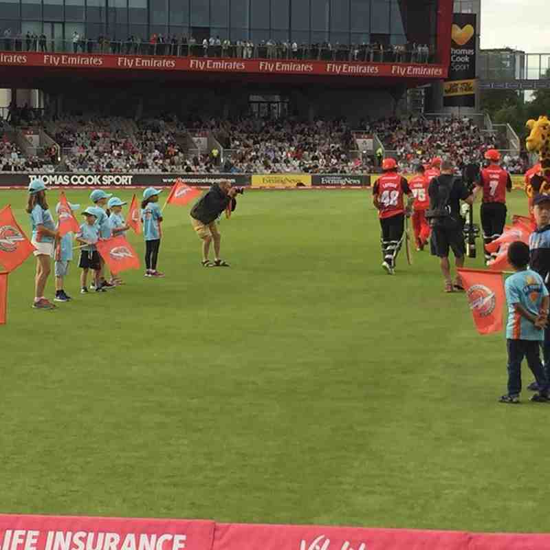 Jnrs night at the T20 & All Stars '18 Guard of Honour Lancs v Durham