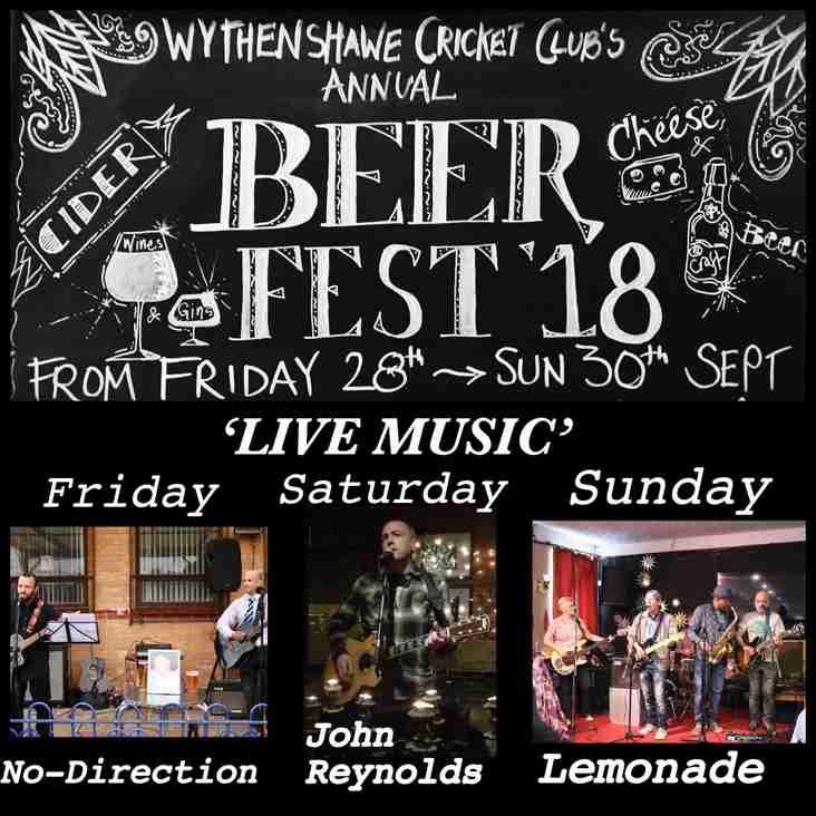 BEER Festival 28-30th Sept 2018