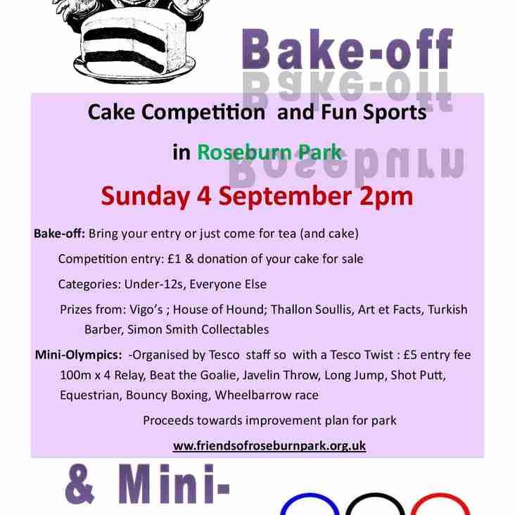 Bake-off and Olympics at Roseburn