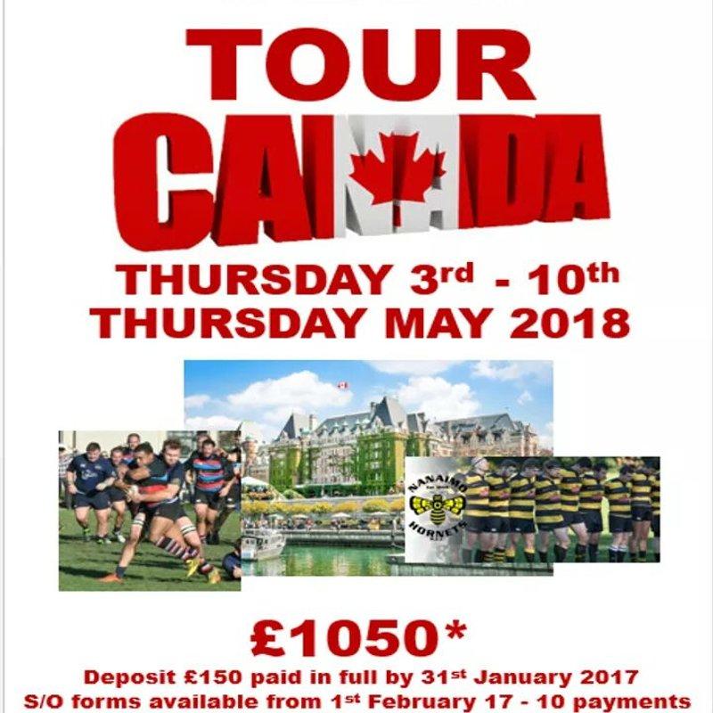 Canada Tour deposits due