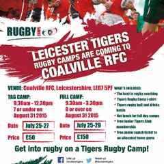 Tigers Camps at Coalville RFC!