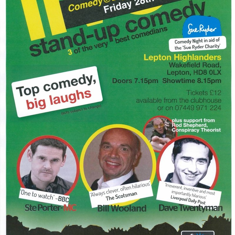 Comedy Night at the Lepton Highlanders