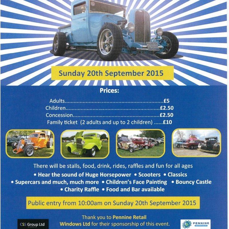 Charity Hot Rod & Custom Car Show at Lepton Highlanders