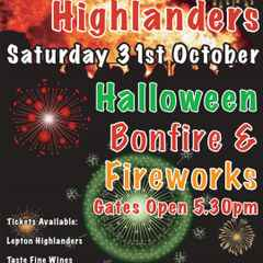 Lepton Highlanders Halloween Bonfire & Fireworks Display