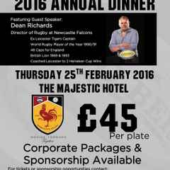 Annual Dinner - Thursday 25th Feb