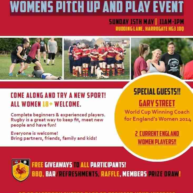 Womens Pitch up and Play Event - Sunday 15th May | 11am-1pm