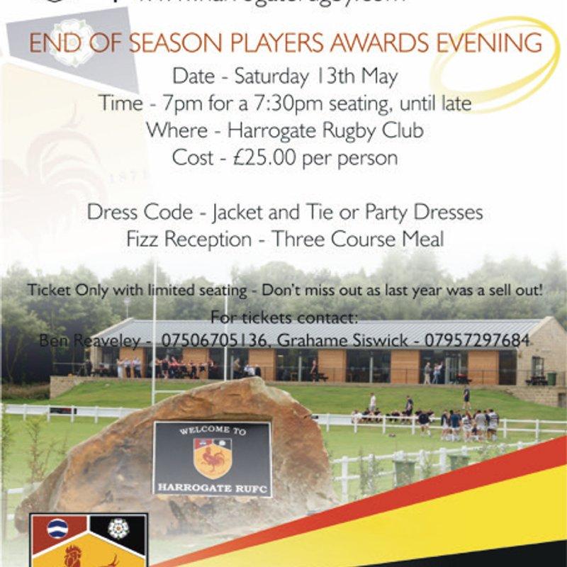 End of Season Players Award Evening