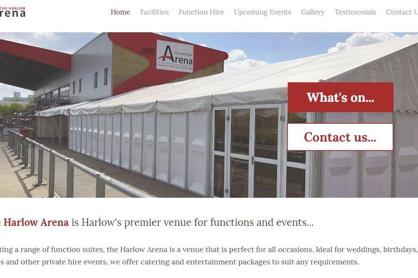 New Harlow Arena Website