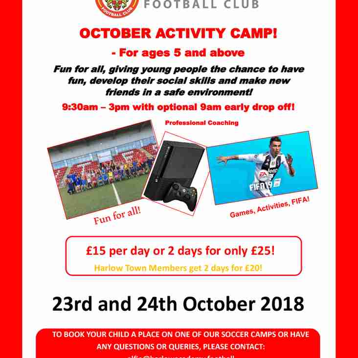 Half Term Activity Days