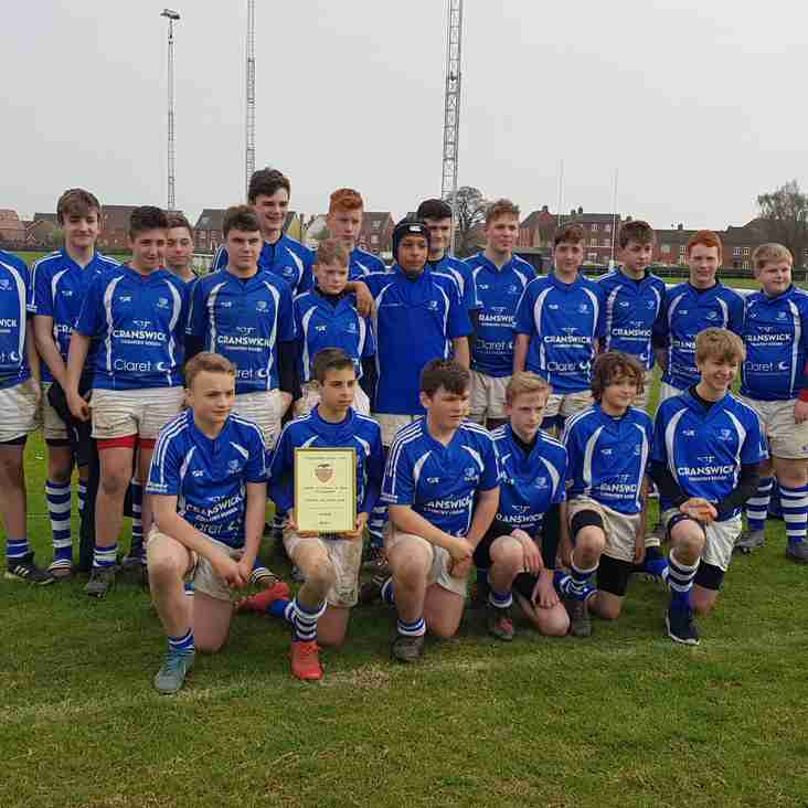 Diss U14's take the shield final at the Colchester Festival