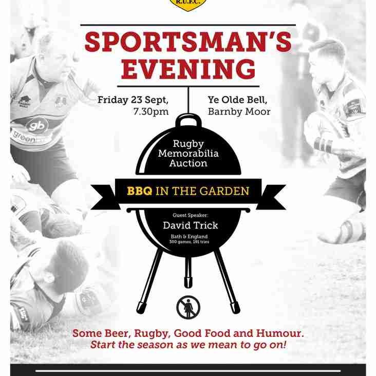 East Retford Rugby Club  Sportsman's evening