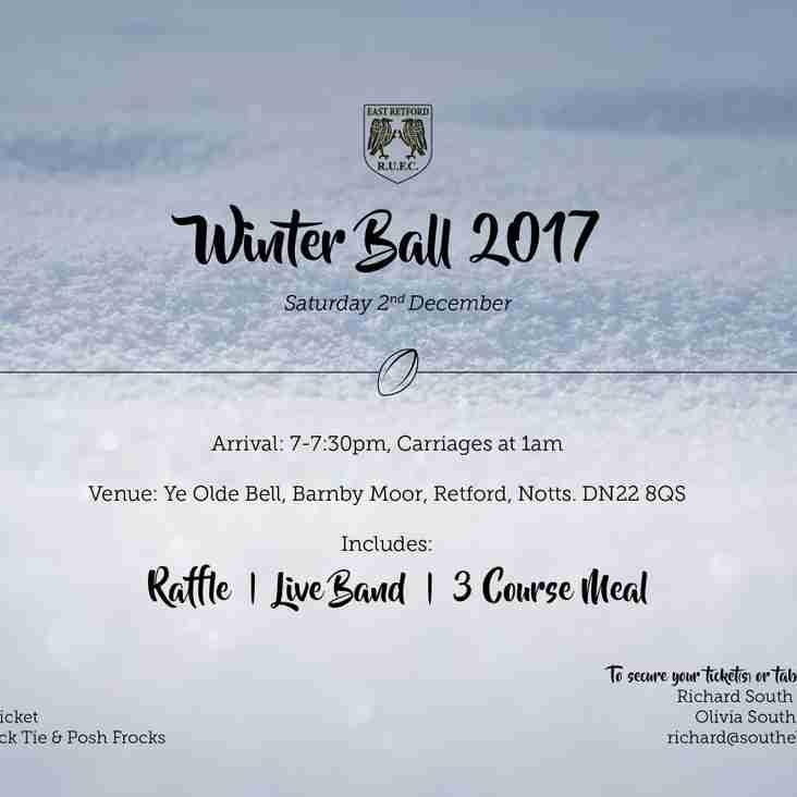 East Retford Rugby Union Football Club winter ball 2017