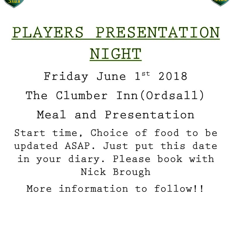 PLAYERS PRESENTATION NIGHT