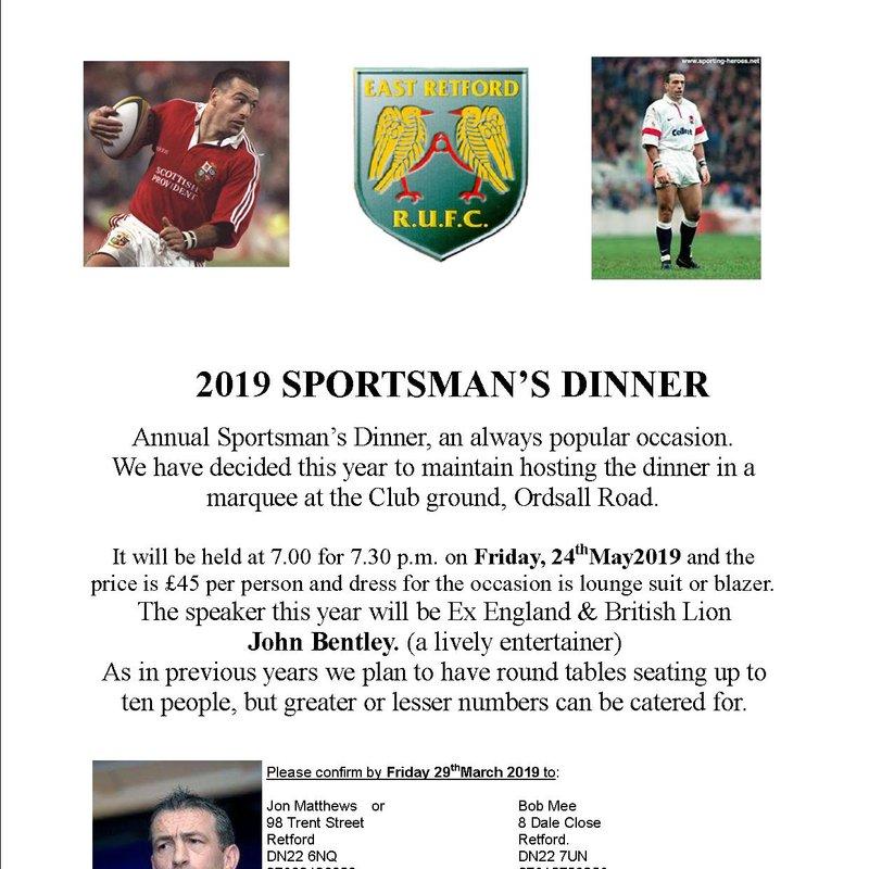 2019 SPORTSMAN'S DINNER