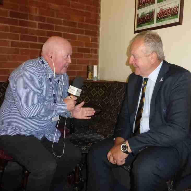 BBC Radio Merseyside's Steve Roberts interviews Bill Beaumont: watch and listen