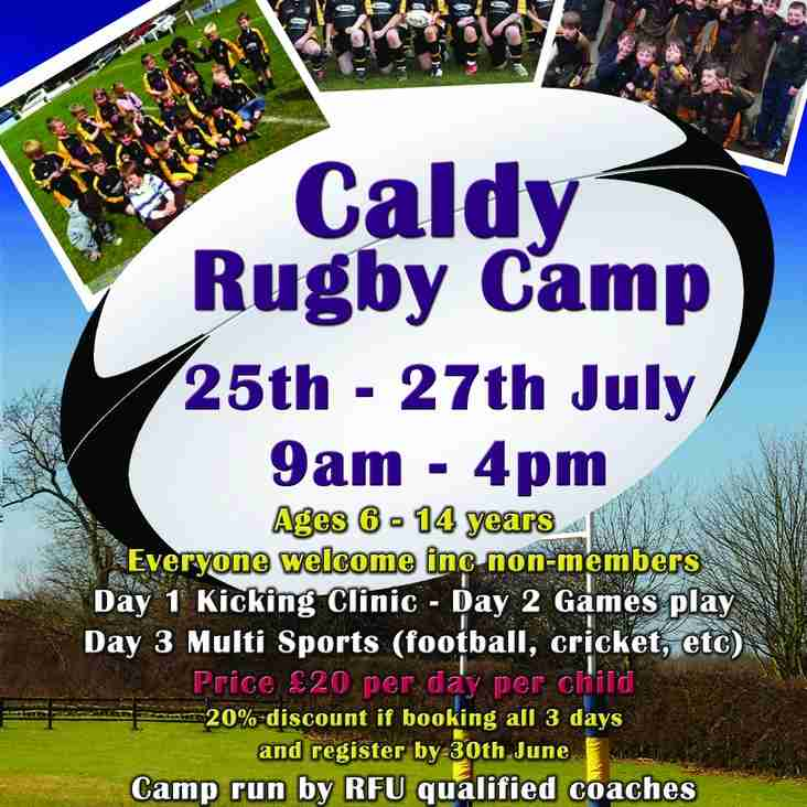 Caldy RFC Summer Rugby Camp