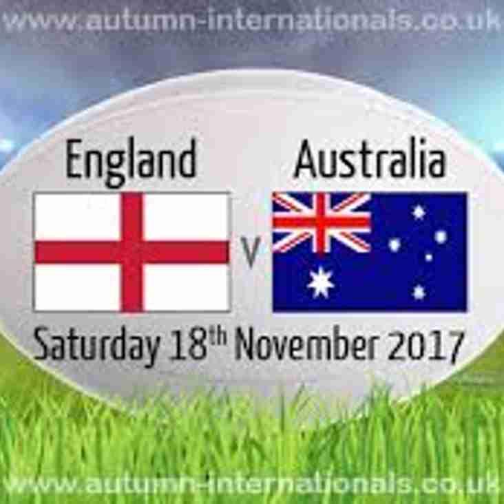Autumn International Tickets - Now available