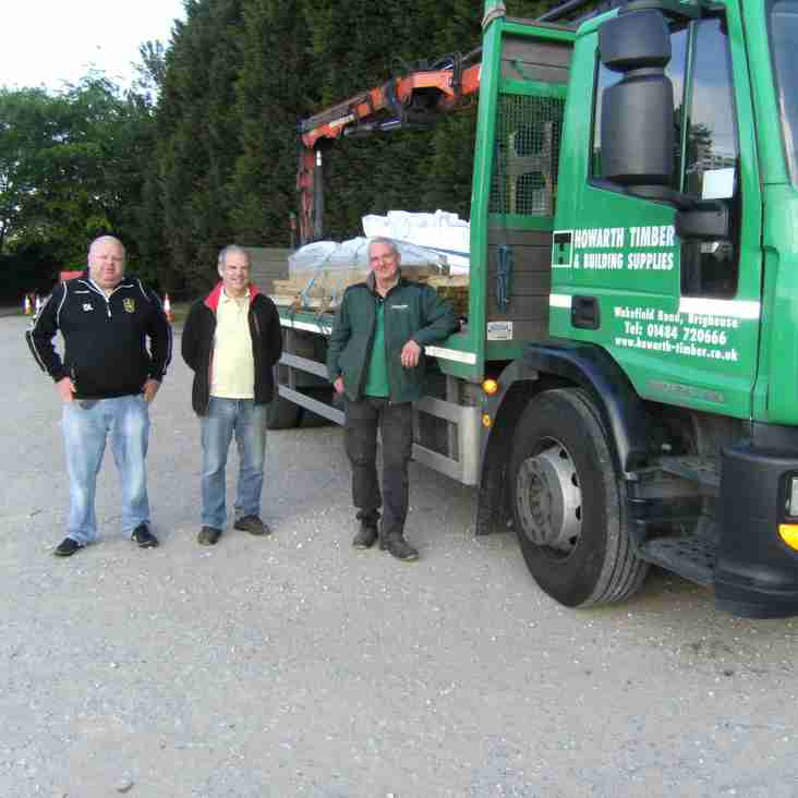 Howarth Timber & Building Supplies massive support for Brighouse Town
