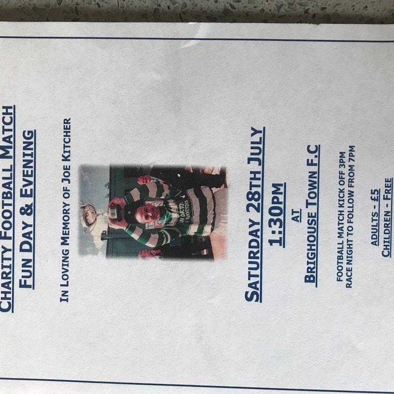Charity Football Match Fun Day and Evening in Loving Memory of Joe Kitchner