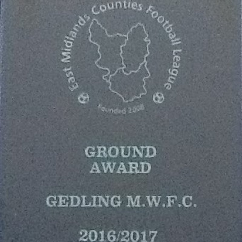 Gedling win EMCL best ground / facilities award 2016-17
