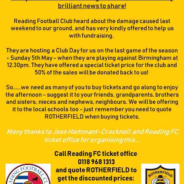 Fundraising Club Day at Reading FC