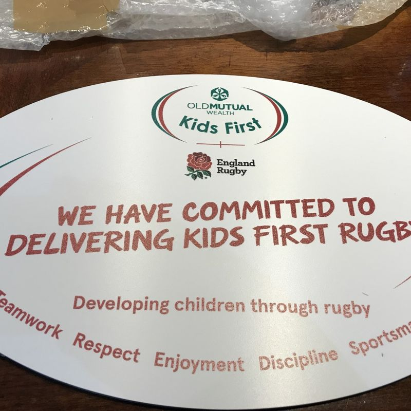 Kids First Rugby.....
