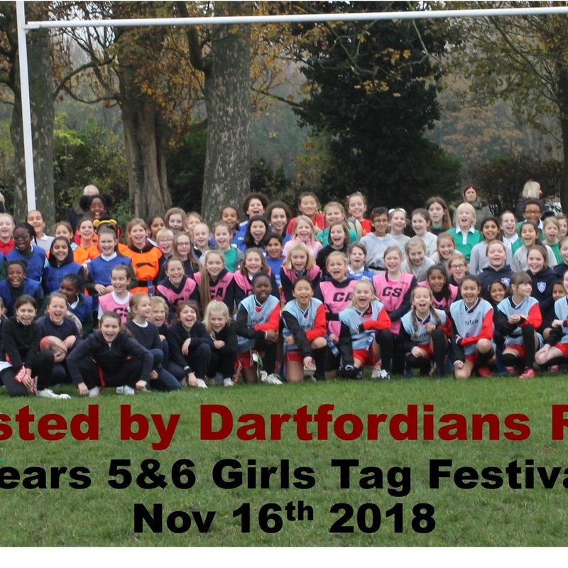 Another Successful Yr 5/6 Girls Rugby Festival at Darts